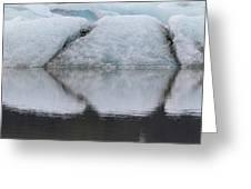 Iceland Fjallsjokull Glacier Reflects Greeting Card