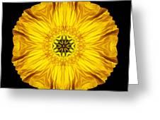 Iceland Poppy Flower Mandala Greeting Card by David J Bookbinder