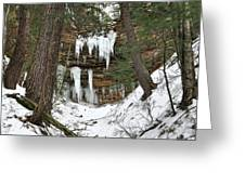 Icicle Formations In The Upper Peninsula Greeting Card