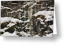 Icicle Rocks Greeting Card