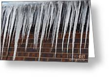 Icicle Wall Greeting Card