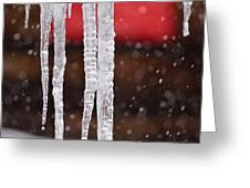 Icicles Greeting Card by Denice Breaux