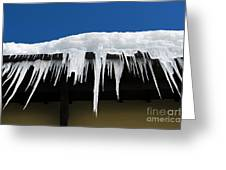 Icicles Greeting Card