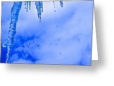 Icicles Melting Greeting Card