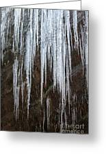 Icicles On A Cliff Greeting Card