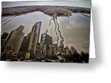 Icicles On Chicago's Bean Greeting Card