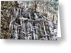 Icicles On Forbidden Drive Greeting Card