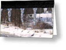 Icicles On The Bridge Greeting Card