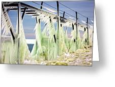 Icicles On The Catwalk Greeting Card