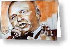 Icon Frank Sinatra Greeting Card