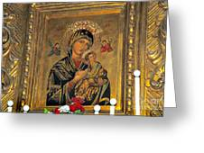 Icon In Marbella Church Greeting Card