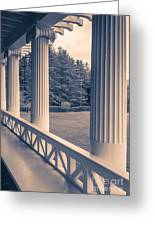 Iconic Columns On An Estate Greeting Card