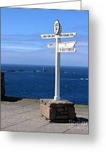 Iconic Lands End England Greeting Card