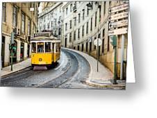 Iconic Lisbon Streetcar No. 28 IIi Greeting Card