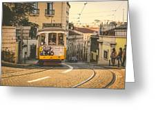 Iconic Lisbon Streetcar No. 28 Iv Greeting Card