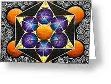 Icosahedron In A Metatron's Cube Greeting Card