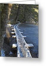 Icy Boardwalk Greeting Card