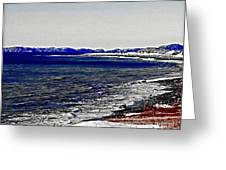 Icy Cold Seascape Digital Painting Greeting Card
