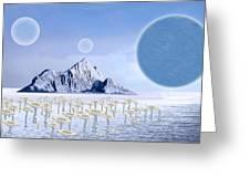 Icy Desert Greeting Card