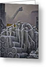 Icy Fire Art Greeting Card