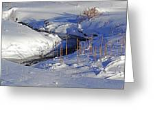 Icy Flow Greeting Card