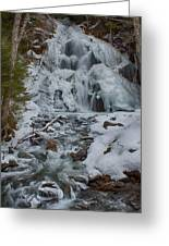Icy Flow Of Water Greeting Card