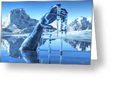 Icy Grip Greeting Card