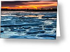 Icy Inferno Greeting Card