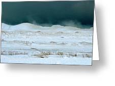 Icy Lake Michigan Greeting Card