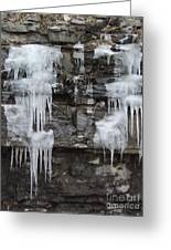 Icy Ledges Greeting Card by Margaret McDermott