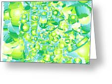 Icy Lime Greeting Card