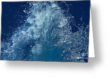Icy Midnight Blue Greeting Card