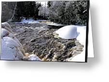 Icy Mist At Tahquamenon Greeting Card