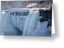 Icy Niagara Falls Greeting Card