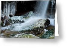 Icy Patapsco Waterfall 2 Greeting Card