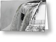 Icy Plunge At Niagara Falls Greeting Card