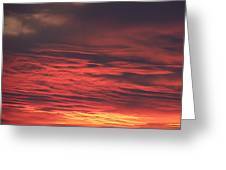 Icy Red Sky Greeting Card
