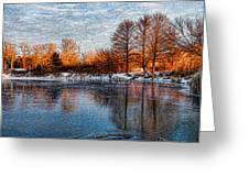 Icy Reflections At Sunrise - Lake Ontario Impressions Greeting Card