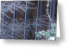Icy Verticles Greeting Card