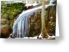 Icy Waterfall  Greeting Card