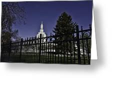 Idaho Falls Temple Series 3 Greeting Card