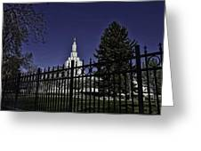 Idaho Falls Temple Series 4 Greeting Card