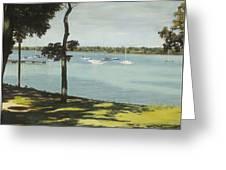 Idle Boats On White Rock Lake Greeting Card