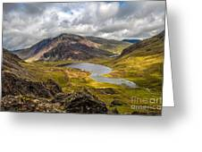 Idwal Lake Snowdonia Greeting Card
