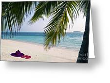 Idyllic Beach Just Waiting For You Greeting Card