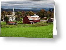 Idyllic Vermont Small Town Greeting Card