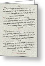 If By Rudyard Kipling Typography On Parchment Greeting Card