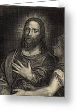 If Thou Be The Son Of God 1886 Engraving Greeting Card by Antique Engravings