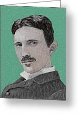 If You Could Read My Mind...tesla Greeting Card