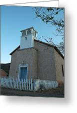 Iglesia De Jaun Batista Lincoln City New Mexico Greeting Card
